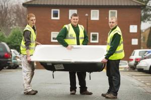 L-R Apprentices Chris Stockley Rhys Jones and Matthew Mott