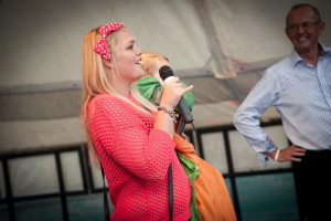Who'd have thought it, me, giving a speech at our company fun day when I won an award for best fundraiser!