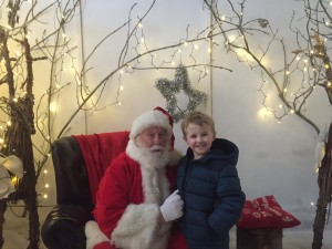 4 year old Oliver Cheshire with Santa